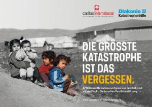 Plakataktion der Diakonie Katastrophenhilfe, Juni 2015