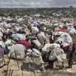 Mogadischu, Bezirk Bakara Markt: in der noch vor Wochen umkämpften Zone haben weitere Flüchtlinge ihre Notunterkünfte aufgebaut.