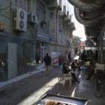 Eine der typisch engen Strassen nahe des Bazars in der Altstadt Erbils.