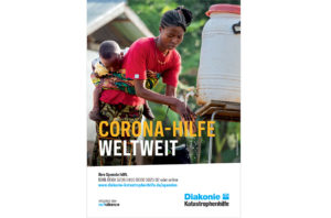 Plakataktion der Diakonie Katastrophenhilfe, April 2020