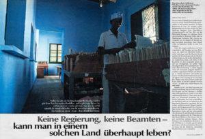 SZ Magazin / Reportage über den Bürgerkrieg in Somalia, April 1995