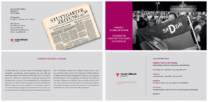 Fotoausstellung zum 30. Jahrestag des Mauerfalls. Galerie der Stadt Fellbach, November 2019